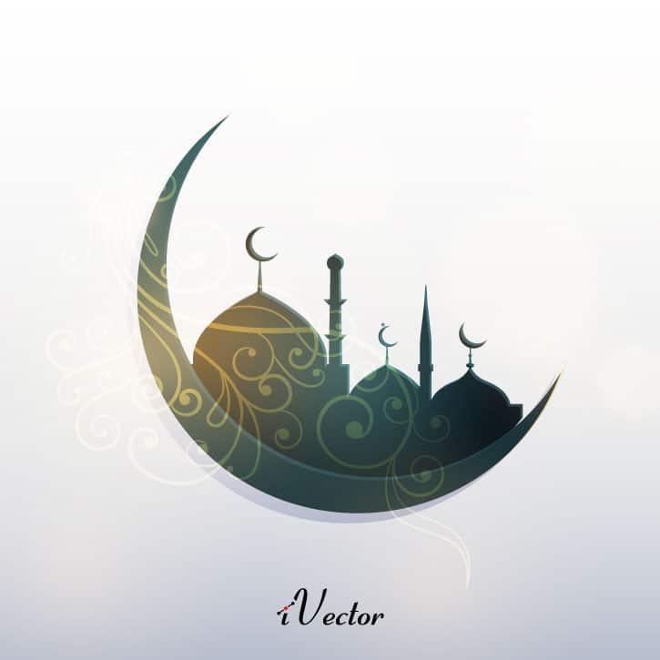 وکتور طرح حلال ماه رمضان ramadan mobarak vector