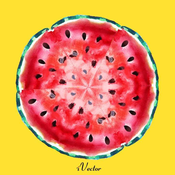 دانلود وکتور برش هندوانه watermelon illustration vector