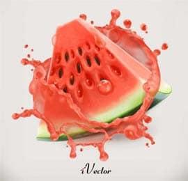 دانلود طرح وکتور برش هندوانه Watermelon Vector Art