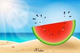 وکتور هندوانه Watermelon Free Vector Art