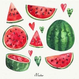 وکتور تصویر برش های هندوانه watermelon vector art