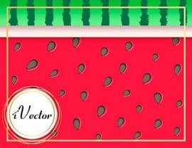 دانلود طرح فانتزی هندوانه Watermelon Vector Art