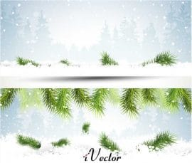 تصویر منظره زمستانی به صورت وکتور Winter Background Vector Images