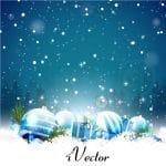 وکتور طرح هدیه زمستان Gift Winter Vector