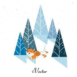 طرح فانتزی وکتور زمستان Vector fantasy winter