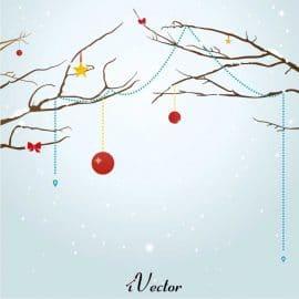 تصویر منظره زمستانی به صورت وکتور Winter background vector