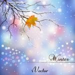 تصویر منظره زمستانی را به صورت وکتور Winter Background With Snow Vector Art