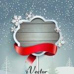 وکتور کادربا طرح زمستان winter border vector