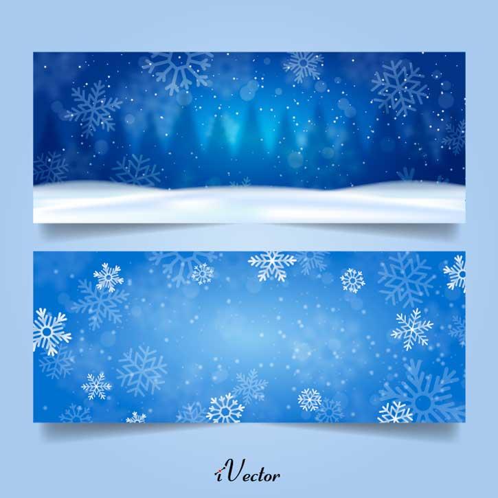 بنر تبلیغاتی وکتور طرح زمستان Winter Background Free Vector Art