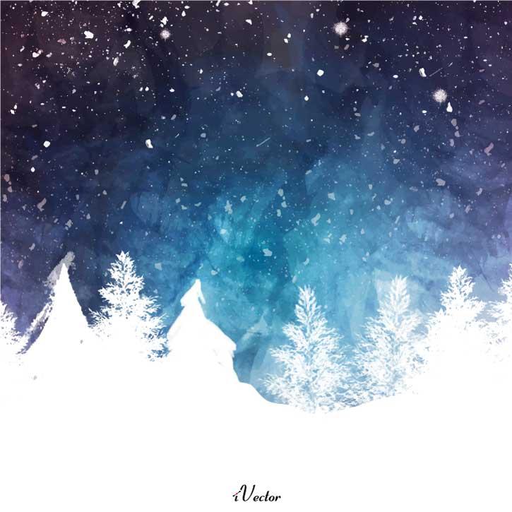دانلود وکتور لایه باز زمستان Winter background vector