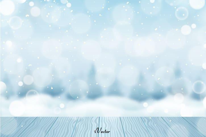 تصویر وکتور فانتزی زمستان Winter background vector