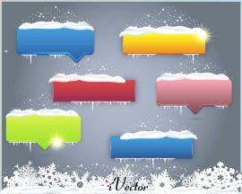 تصویر وکتور تگ های تبلیغاتی طرح زمستانی winter button background vector