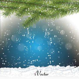تصویر منظره های زمستانی را به صورت وکتور Winter Background Vector Images