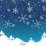تصویر منظره زمستانی را به صورت وکتور Winter background vector