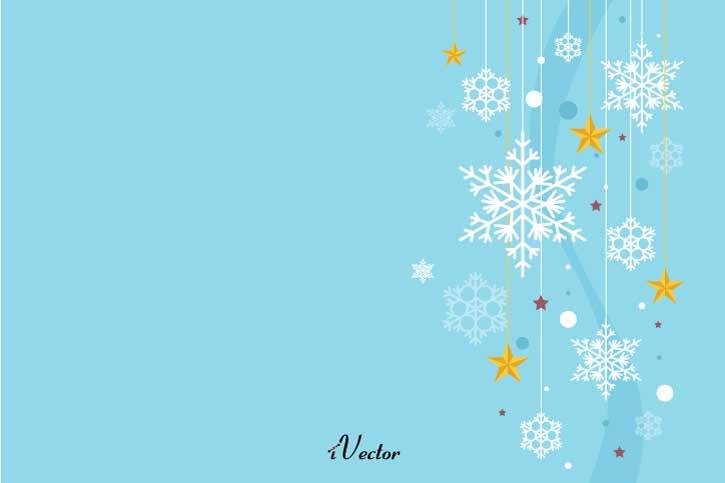 پس زمینه زمستان Winter Vector Stock Image