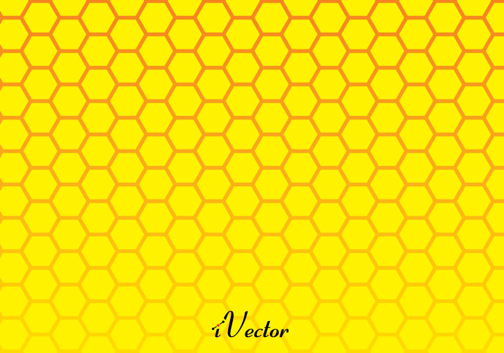 وکتور لانه زنبوری زرد yellow vector background