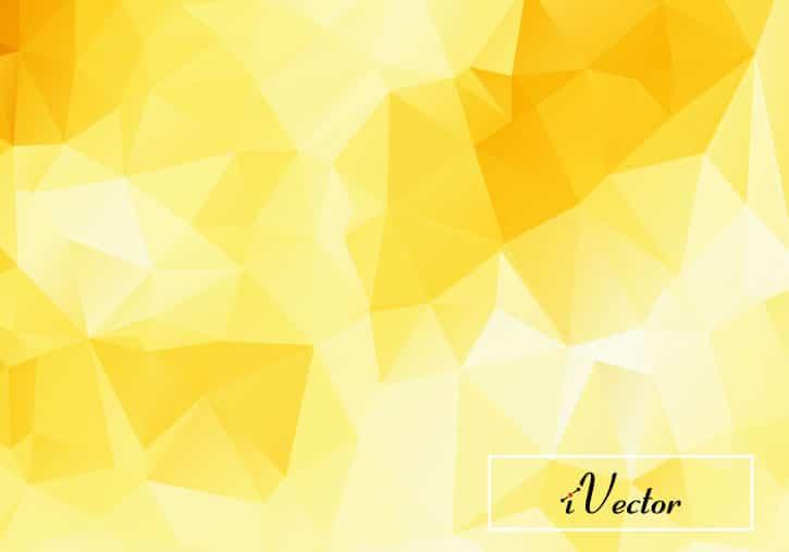 وکتور چندضلعی زمینه زردblue Polygon vector