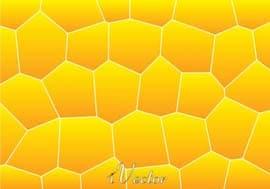 پترن وکتور چند ضلعی های نامنظم زرد نارنجی polygon orange and yellow pattern