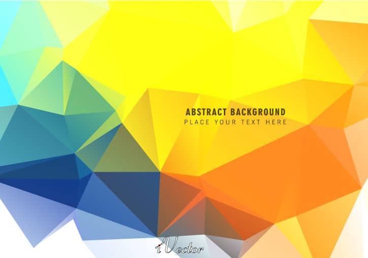 وکتور چندضلعی زرد yellow polygon vector background